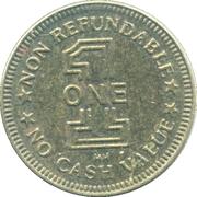 Token - One (Non Refundable) – obverse