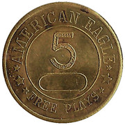 5 Free Plays - American Eagle – obverse