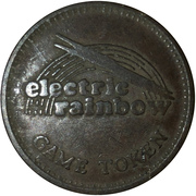 25 Cents Game Token - Electric Rainbow – obverse