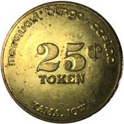 25 Cent Token - Mesquaki Bingo & Casino (Tama, Iowa) – reverse