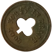 5 Cents - Automatic Machine Co. (Clover) – reverse