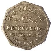 10 Cents - H. J. Tiemeier General Merchandise (Lincolnville and Tampa, Kansas) – obverse