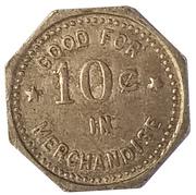 10 Cents - H. J. Tiemeier General Merchandise (Lincolnville and Tampa, Kansas) – reverse