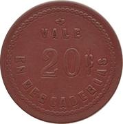 20 Centavos - Sociedad Explotadora de Tierra del Fuego – reverse