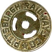 1 Fare - Pittsburgh Railways Co. (round hole) – obverse