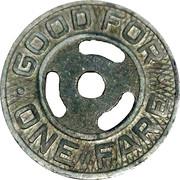 1 Fare - Pittsburgh Railways Co. (round hole) – reverse