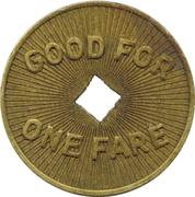1 Fare - W. & S.M.C. Co. Aliquippa (Aliquippa, PA) – reverse