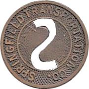 1 Fare - Springfield Transportation Co. (Springfield, Illinois) – obverse