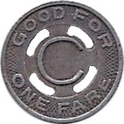 1 Fare - City Transit Co. (Logansport, Indiana) – reverse