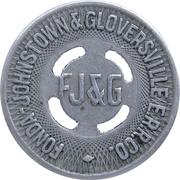 1 Fare - Fonda Johnstown & Gloversville E.R.R. Co. (Amsterdam, New York) – obverse