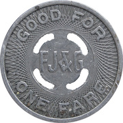 1 Fare - Fonda Johnstown & Gloversville E.R.R. Co. (Amsterdam, New York) – reverse