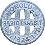 1 Full Fare - Honolulu Rapid Transit Co. (Honolulu, Hawaii) – obverse