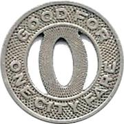 1 City Fare - Oshkosh City Lines, Inc. (Oshkosh, Wisconsin) – reverse