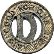1 City Fare - Dallas Ry. & Term. Co. (Dallas, Texas) – reverse