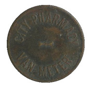 5 Cents - City Pharmacy (Van Meter) – obverse