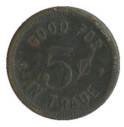 5 Cents - City Pharmacy (Van Meter) – reverse