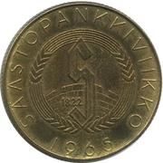 Token - Säästöpankkiviikko (Carl Gustaf Mannerheim) – reverse