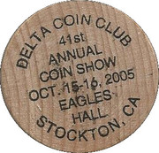 Token - Delta Coin Club (Stockton, California) – obverse