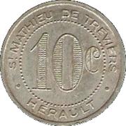10 Centimes - Maison Rigail - St Mathieu de Tréviers [34] – reverse