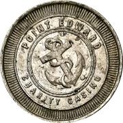 1 Dollar Gaming Token - Point Edward Charity Casino – reverse
