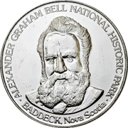 Souvenir Token - Alexander Graham Bell National Historic Park – obverse
