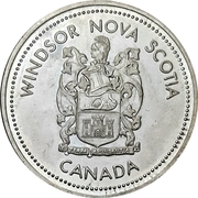 1 Dollar - Windsor, Nova Scotia – reverse