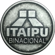 Token - Itaipu Binational (Foz do Iguaçu - Conductive Tube) – reverse