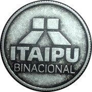 Token - Itaipu Binational (Foz do Iguaçu - Steel Man's Dam) – reverse