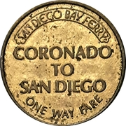 1 Way Fare - San Diego Bay Ferry – reverse