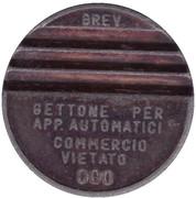 Token - Gettone Apparecchi Automatici (000; Copper) – obverse