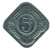 5 Cents - Beatrix (Queen Beatrix and Prince Claus) – reverse