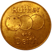 Token - Ruffler and Deith – obverse
