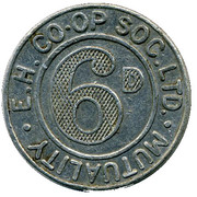 6 Pence Mutuality - E.H. CSL (Middlesex) – obverse