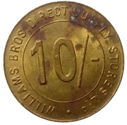 10 Shillings - Williams Bros. Direct Supply Stores Ltd – reverse