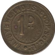1 Penny - Ynysybwl Indus. Co-Op. Soc. Ltd. (Ynysybwl, Mid Glamorgan, Wales) – obverse