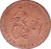 Golden Medal Gum (Motor cycle and sidecar racing) – obverse