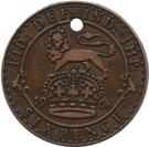 Token -  Lee Cooper (6 Pence 1908) – reverse