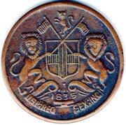 ½ Anna - East India Company (1835) – obverse