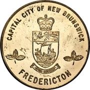 Token - Canada's Centennial (Fredericton, New Brunswick) – reverse