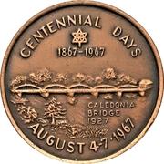 Souvenir Token - Centennial Days (Caledonia, Ontario) – obverse