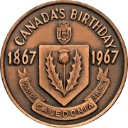 Souvenir Token - Centennial Days (Caledonia, Ontario) – reverse