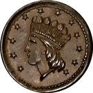 1 Cent - Civil War Token (Indian Princess / Our Army) – obverse