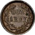 1 Cent - Civil War Token (Indian Princess / Our Army) – reverse