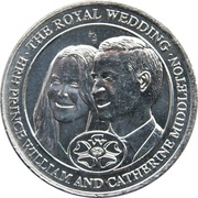 Medallion - The Royal Wedding (Prince William and Catherine Middleton) – obverse