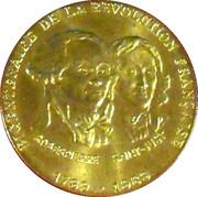 Token - Bicentenaire de la révolution Française (Robespierre, Saint-Just) – obverse