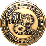 Token - New England Numismatic Association (55th Convention) – reverse