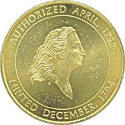 Token - Kennedy (Flowing Hair Liberty Half Dollar) – reverse