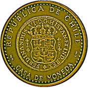 Medal - First silver coin of Chile – obverse