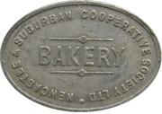 ½ Loaf Bakery Token - Newcastle & Suburban Co-operative Society – obverse