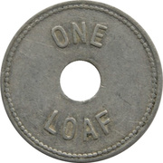 1 Loaf Bakery Token - Yeatman Bros. Bakers (Cessnock, New South Wales) – reverse